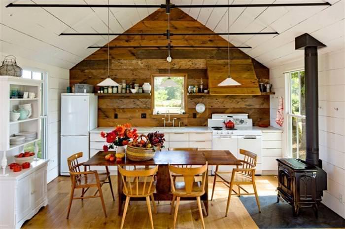 дизайн інтерєру кухні на дачі 75 фото прикладів та ідей